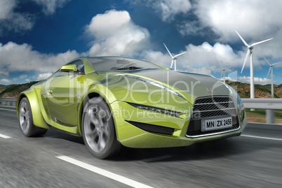 Green concept car