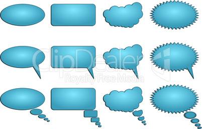 Dialogue bubbles