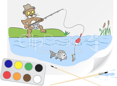 Drawing fishing