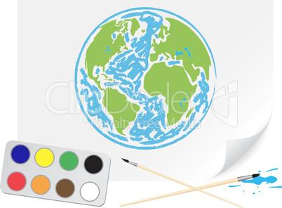 Drawing green Earth