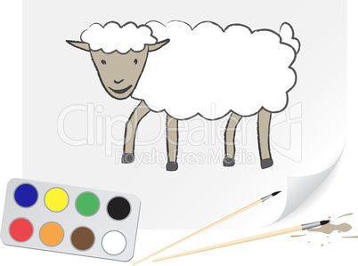 Drawing sheep