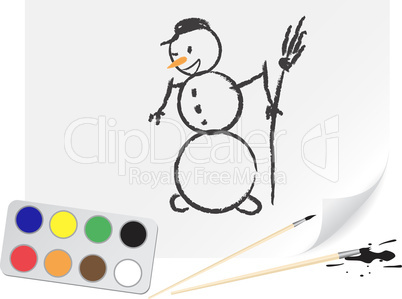 Drawing snowball