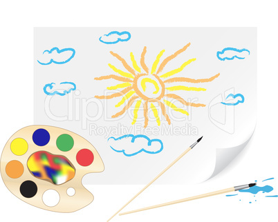 Drawing sun