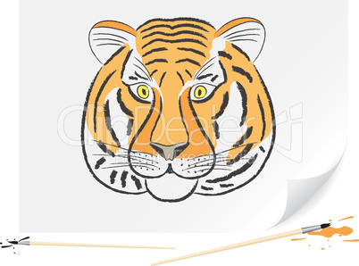 Drawing tiger