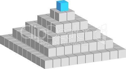 Würfelpyramide