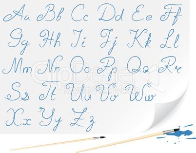 Geschriebenes Alphabet