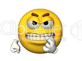 Angry emoticon with baring teeth