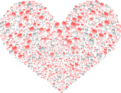 Drops heart background