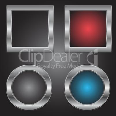 Metal squares and circles