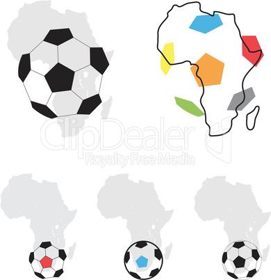 Africa football symbol