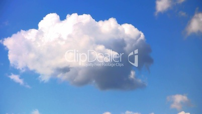 Heaven - Clouds and blue sky. Time lapse