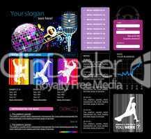 Web site template, vector