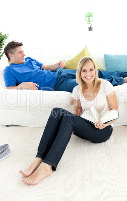 Young couple having free time together