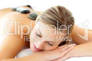 Pretty woman having a massage