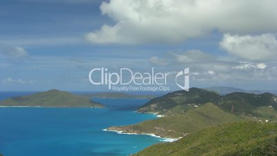 Time lapse Cooten Bay British Virgin Islands