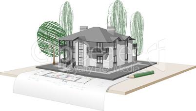 drawn house