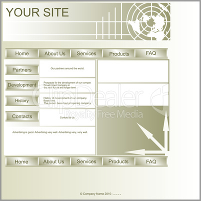 Layout site.