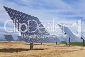 Field of Green Energy Photovoltaic Solar Panels