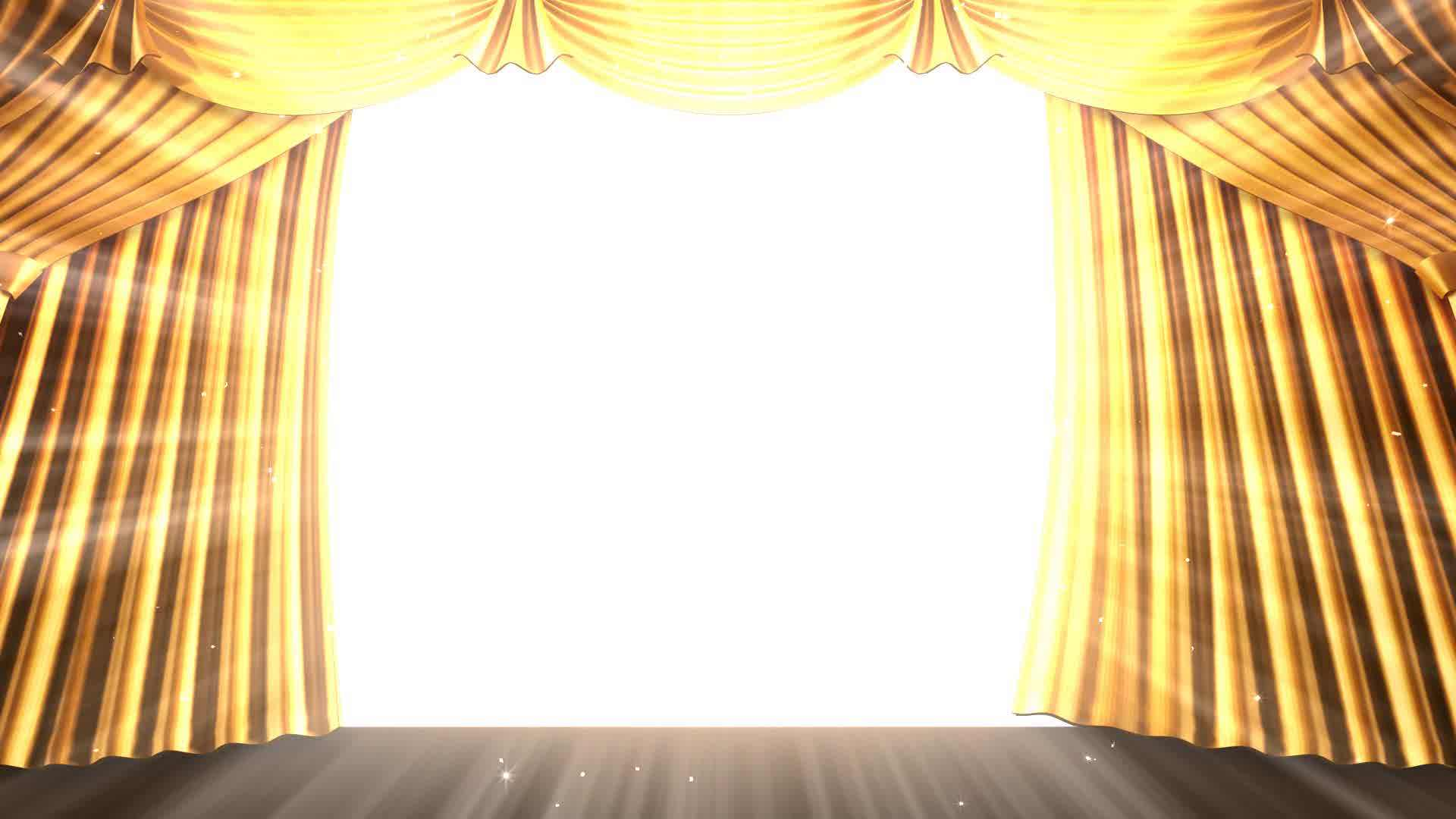 Real Open Stage Curtains Free Image