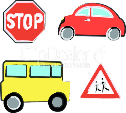 Naive car and bus