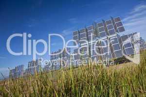 Field of Renewable Green Energy Photovoltaic Solar Panels