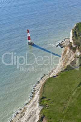 Aerial Photograph of Lighthouse at Beachy Head, East Sussex, Eng