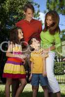Modern Family Together Having Fun In A Park