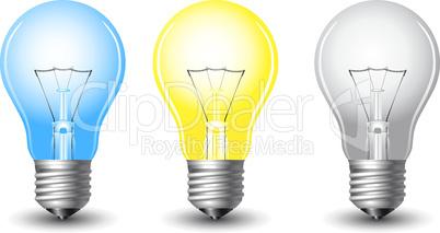 vector realistic light bulb
