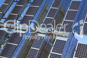 Close Up Renewable Green Energy Photovoltaic Solar Panel