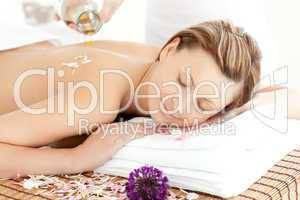 Relaxed woman having a Spa treatment
