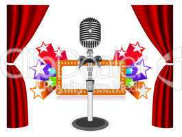Curtains with microphone