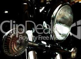 Chromed motorcycle headlights