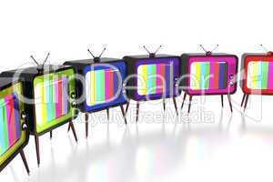 Colorful retro tv's