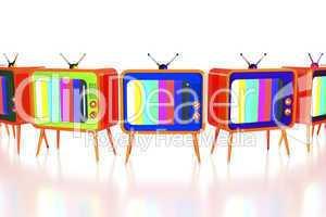 Orange retro tv's