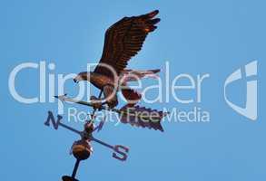 Wetterstation mit einem Adler