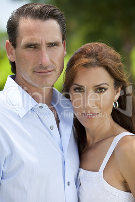 Beautiful Successful Middle Aged Man and Woman Couple