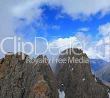 two rocky peaks