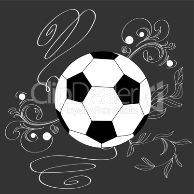 single soccer ball with floral element