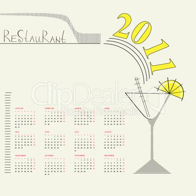 Decorative calendar 2011
