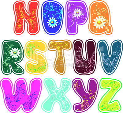 floral alphabet (Part 2)