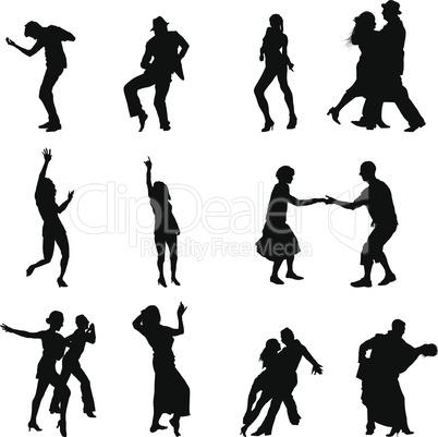 dance silhouette set