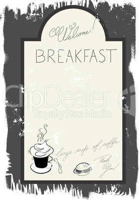 Template for breakfast menu