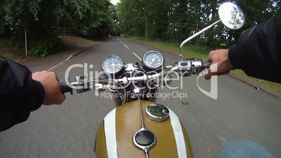 Motorbike journey along rural road