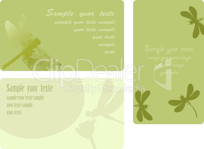 Set of summer cards, place for the text