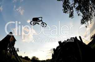mountain bike extreme jump