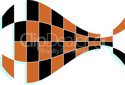 Vector abstract background fish