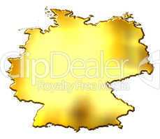 Germany 3d Golden Map