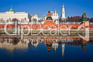 Moscow Kremlin and reflection
