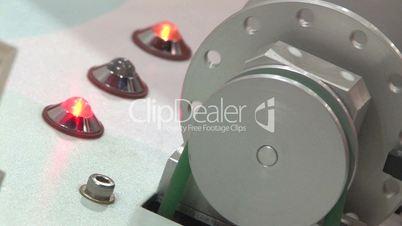 Machinery Blinking Lights Wheel Belt Endless Loop