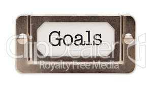 Goals File Drawer Label